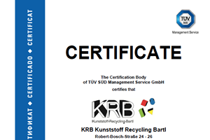 KRB Certificate according to ISO 9001:2015